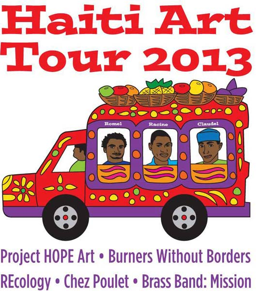 Flyer for Haiti Art Tour 2013
